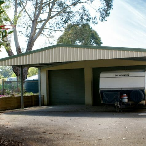 Carport with Front Gable Infill